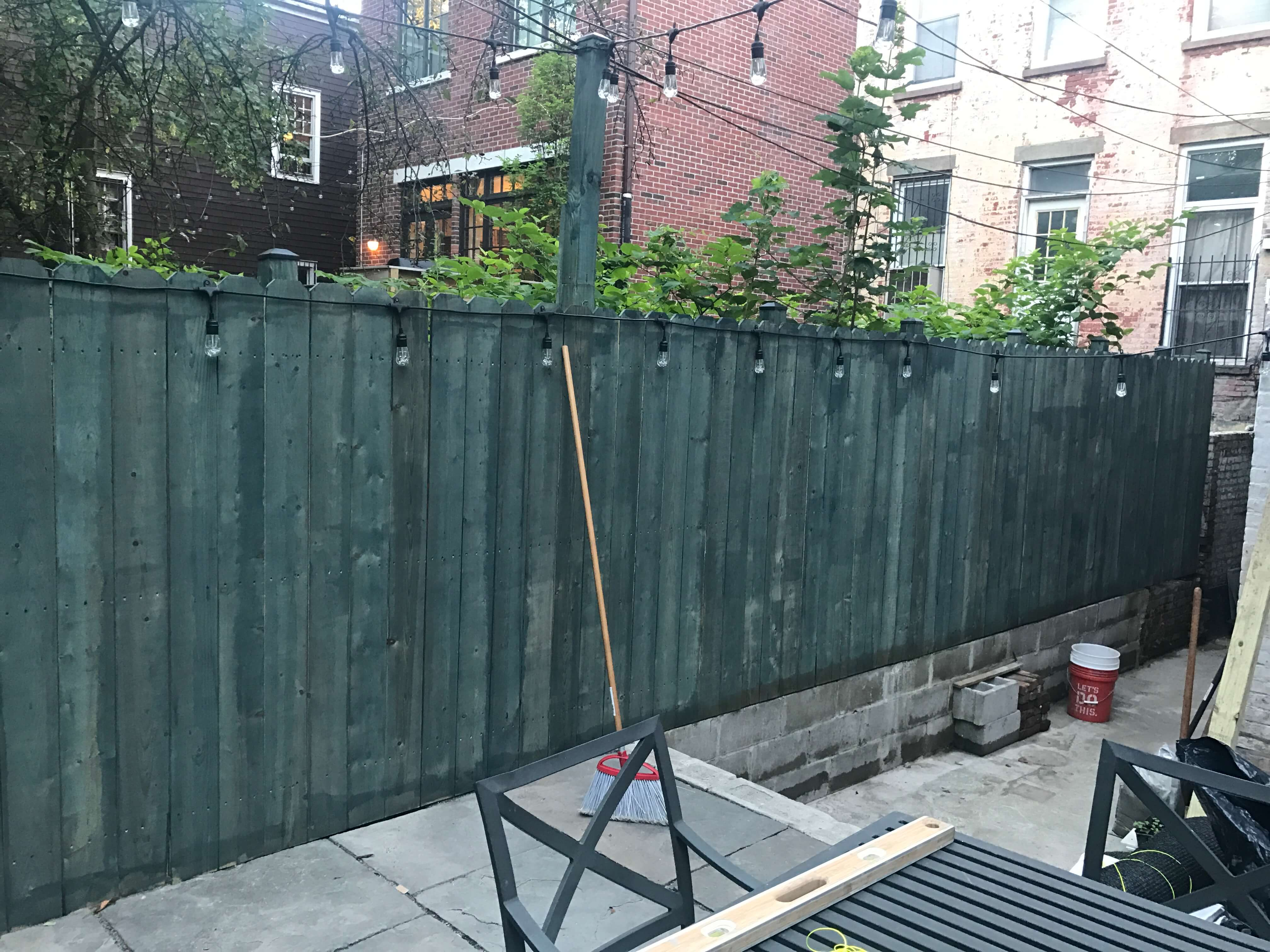 Great new wood fence